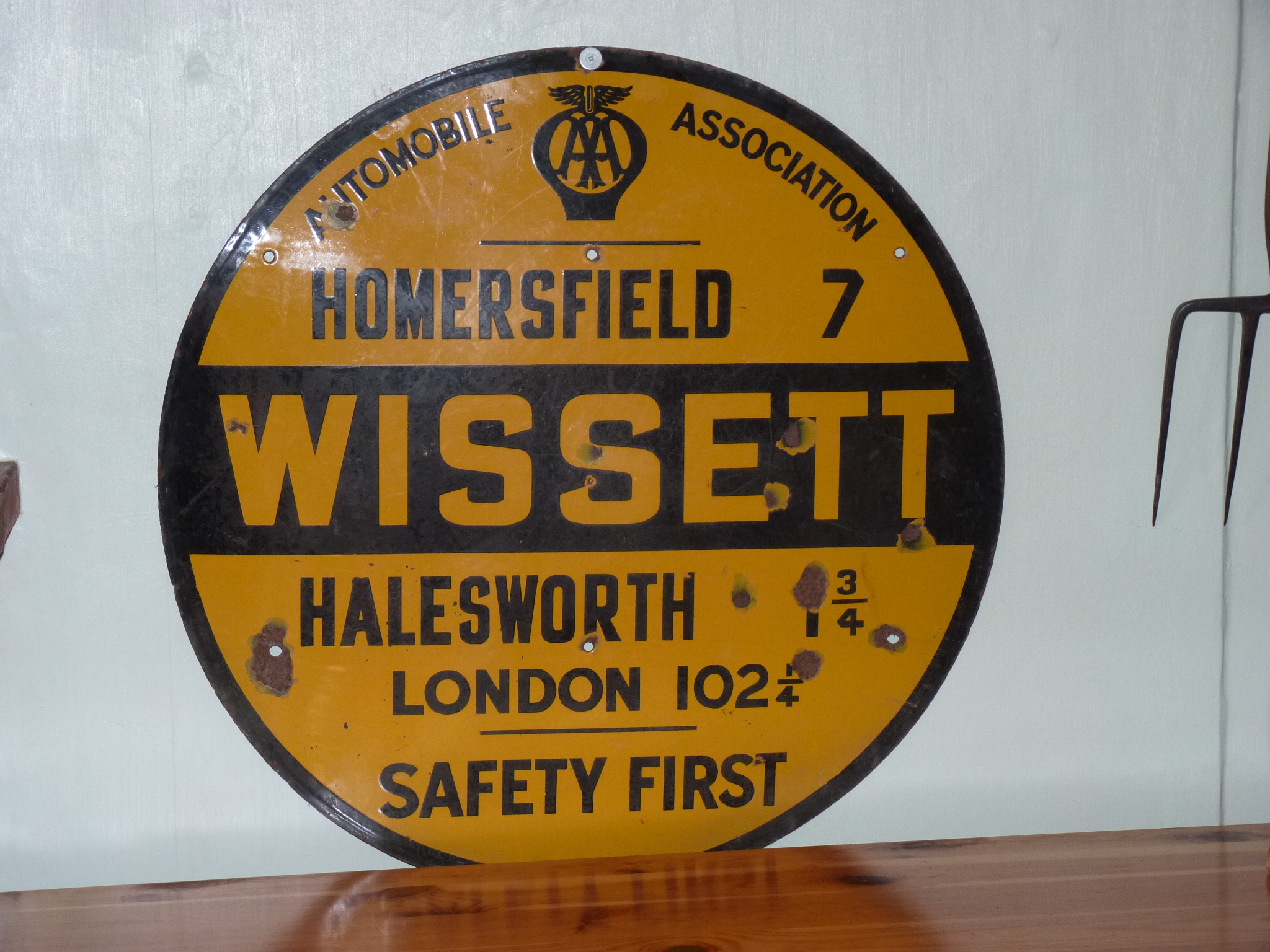 AA Sign from Wissett