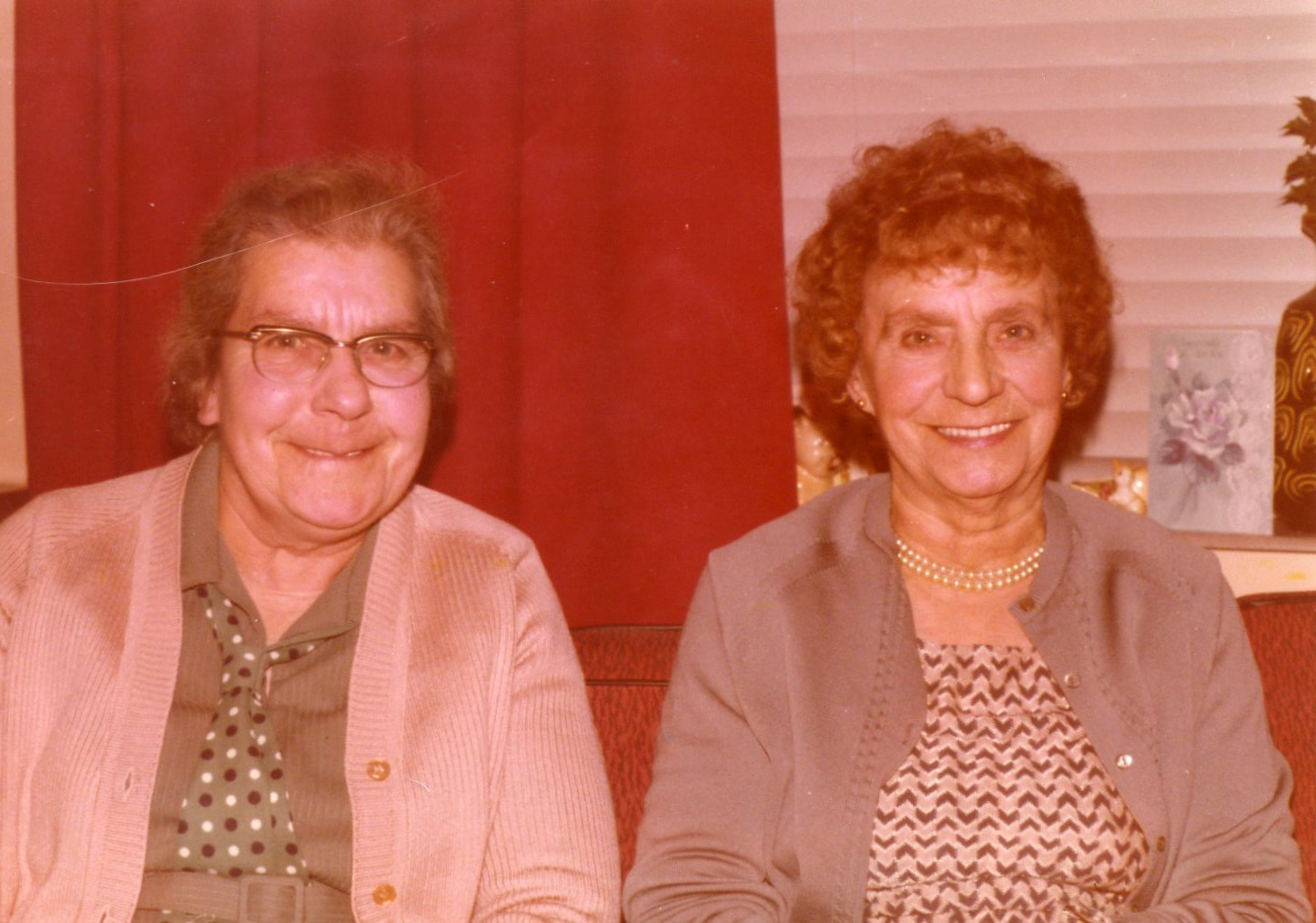 Gladys Rose (on the right), with her younger sister Jessie Rose, c.1980